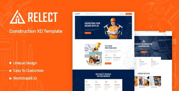 [Free Download] Relect – Construction & Building XD Template (Nulled) [Latest Version]
