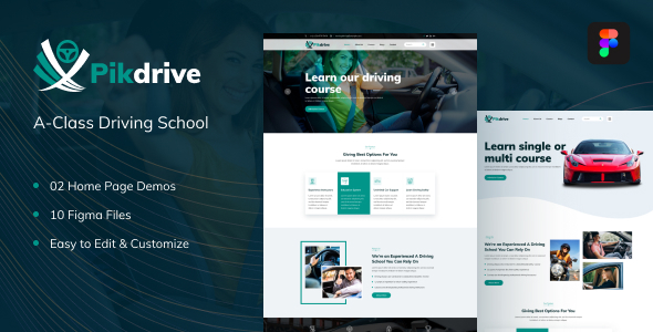 [Free Download] Pikdrive – Driving School Figma Template (Nulled) [Latest Version]