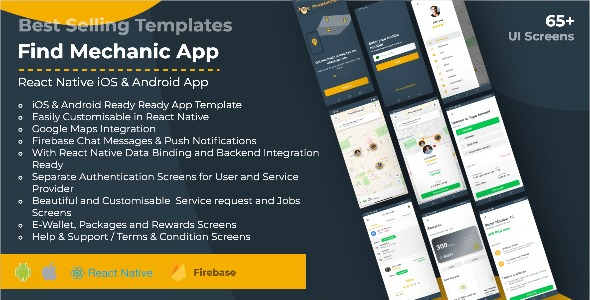 [Free Download] Find Mechanic – Premium React Native Full Application Template for iOS & Android (Nulled) [Latest Version]