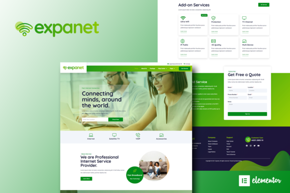 [Free Download] Expanet – Broadband & Internet Services Elementor Template Kit (Nulled) [Latest Version]