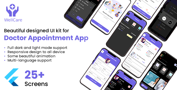 [Free Download] Well Care Doctor Appointment App UI Kit (Nulled) [Latest Version]