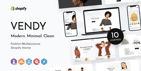 [Free Download] Vendy – Multipurpose Shopify Theme for Fashion (Nulled) [Latest Version]