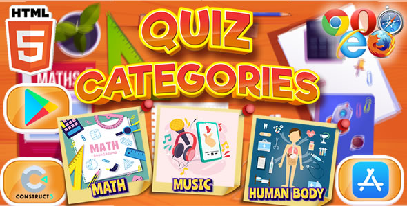 [Free Download] Quiz Categories – HTML5 & Mobile Game (C3p) (Nulled) [Latest Version]