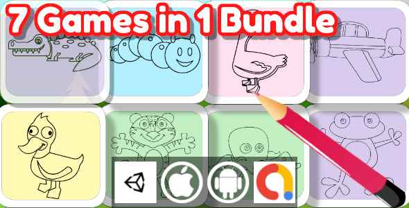 [Free Download] Edukida – Unity Bundle 7 Coloring Book Games in 1 Bundle (Kids Game With Admob For Android + iOS) (Nulled) [Latest Version]