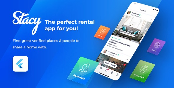 [Free Download] Stacy – Flutter Roommate Template (Nulled) [Latest Version]