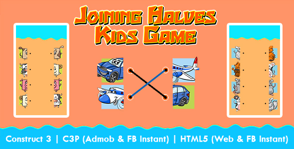 [Free Download] Joining Halves Kids Education Game (Construct 3 | C3P | HTML5) Admob and FB Instant Ready (Nulled) [Latest Version]