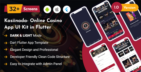 [Free Download] Kasiinada – Online Casino App UI Kit in Flutter (Nulled) [Latest Version]
