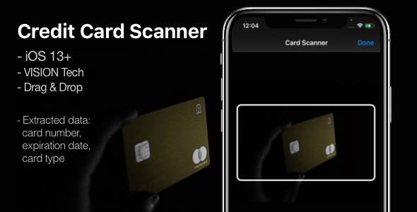 [Free Download] Credit Card Scanner – A mini-library for iOS 13+ (Nulled) [Latest Version]
