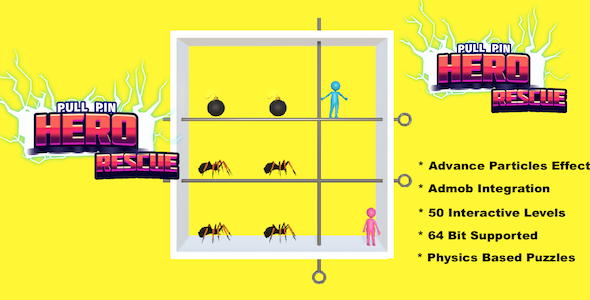 [Free Download] Pull Pin Hero Rescue – Complete Unity Game (Nulled) [Latest Version]