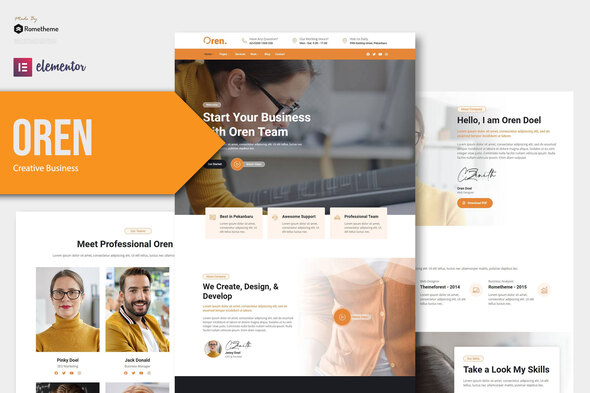 [Free Download] Oren – Creative Business Elementor Template Kit (Nulled) [Latest Version]
