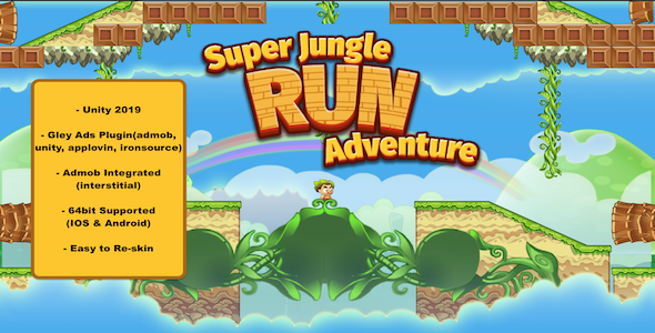 [Free Download] Super Jungle Run Adventure (Mario Style) –  Complete Unity Template (Nulled) [Latest Version]
