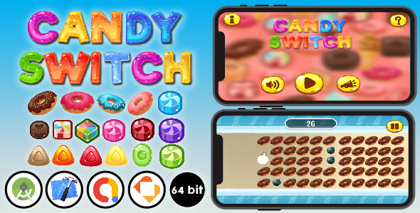 [Free Download] Candy Switch – Android & Xcode & Buildbox Game Template (Nulled) [Latest Version]