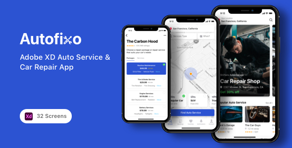 [Free Download] Autofixo – Adobe XD Auto Service & Car Repair App (Nulled) [Latest Version]