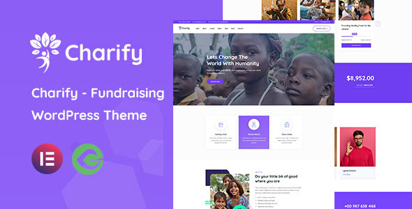 [Free Download] Charify – Fundraising & Donation WordPress Theme (Nulled) [Latest Version]