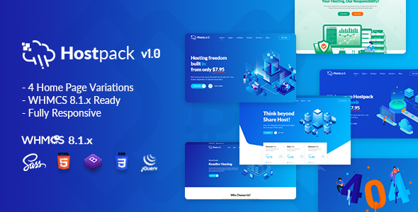 [Free Download] Hostpack | Responsive Hosting HTML Template (Nulled) [Latest Version]