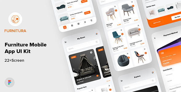 [Free Download] FURNITURA – Furniture Mobile App UI Kit For Figma (Nulled) [Latest Version]