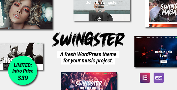 [Free Download] Swingster – Elementor Music WordPress Theme (Nulled) [Latest Version]