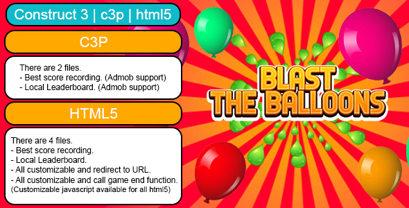 [Free Download] Blast The Balloons Endless Game (Construct 3   C3P   HTML5) customizable and All Platforms Supported (Nulled) [Latest Version]