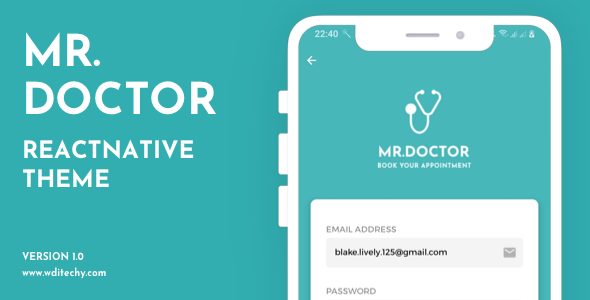[Free Download] Mr.Doctor React Native Theme/Templates (Nulled) [Latest Version]