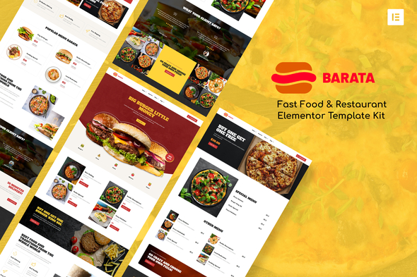 [Free Download] Barata – Fast Food & Burger Elementor Template Kit (Nulled) [Latest Version]