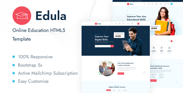 [Free Download] Edula – Online Education HTML5 Template (Nulled) [Latest Version]