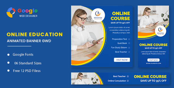 [Free Download] Online Course Animated Banner GWD (Nulled) [Latest Version]