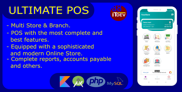[Free Download] Ultimate Point Of Sales (POS) complete package, Android and Online Store with rest api php mysql (Nulled) [Latest Version]