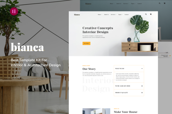 [Free Download] Bianca | Architecture & Interior Elementor Template Kit (Nulled) [Latest Version]