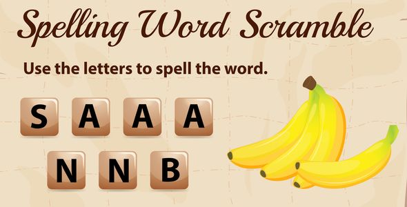 [Free Download] Scramble Words for Kids | Construct 3 (Nulled) [Latest Version]