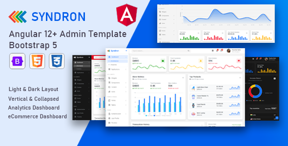[Free Download] Syndron – Angular 12+ Bootstrap 5 Admin Template (Nulled) [Latest Version]