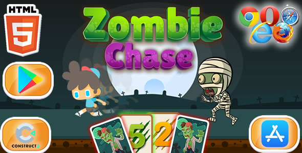 [Free Download] Chase Zombie – HTML5 Game (Construct 3) (Nulled) [Latest Version]