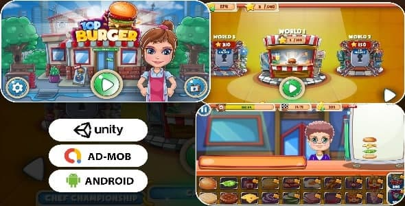 [Free Download] Android – TOP Burger game (admob + android + unity ) (Nulled) [Latest Version]