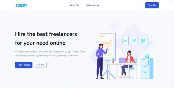 [Free Download] Jobby – Complete Freelance Job Portal with Instant Messaging (Nulled) [Latest Version]