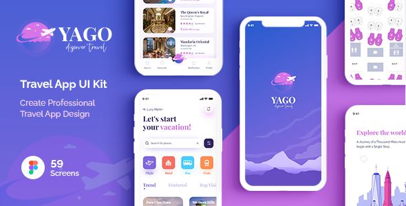 [Free Download] YAGO | Travel App UI Kit for Figma (Nulled) [Latest Version]