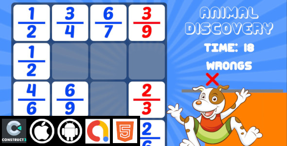 [Free Download] Animal Discovery Kids Educational Construct 3 HTML5 Game With Admob | HTML5 , Android , iOS (Nulled) [Latest Version]
