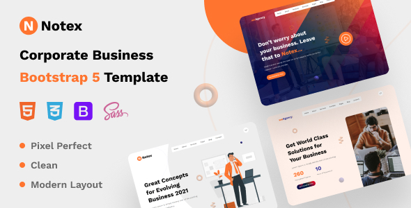 [Free Download] Notex – Corporate Business Bootstrap 5 Template (Nulled) [Latest Version]
