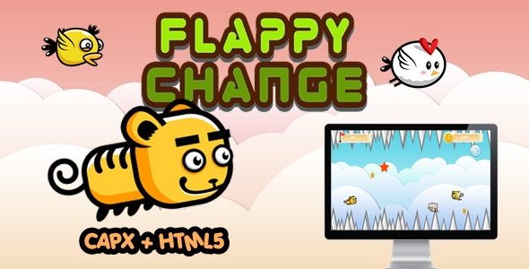 [Free Download] Flappy Change – Construct 2 Html5 Game (Nulled) [Latest Version]