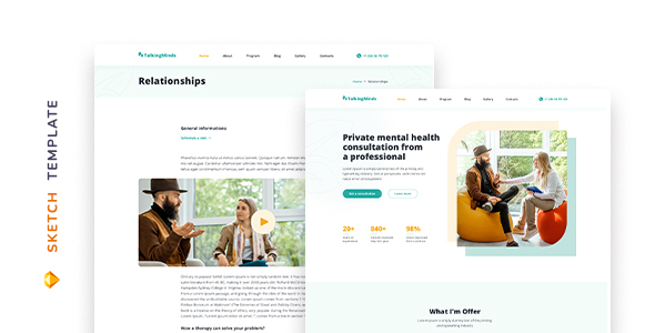 [Free Download] Talking Minds – Psychotherapist Template for Sketch (Nulled) [Latest Version]