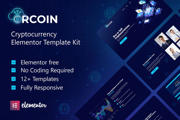 [Free Download] Crcoin – Cryptocurrency & Blockchain Technology Elementor Template Kit (Nulled) [Latest Version]