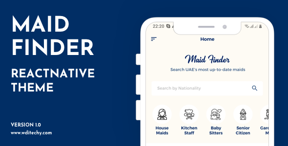 [Free Download] MaidFinder React Native Theme/Template (Nulled) [Latest Version]