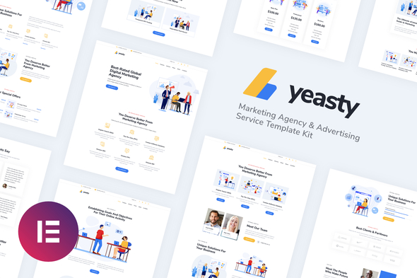 [Free Download] Yeasty   Marketing Agency & Advertising Service Elementor Template Kit (Nulled) [Latest Version]