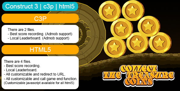 [Free Download] Collect The Treasure Coins Game (Construct 3   C3P   HTML5) Customizable and All Platforms Supported (Nulled) [Latest Version]
