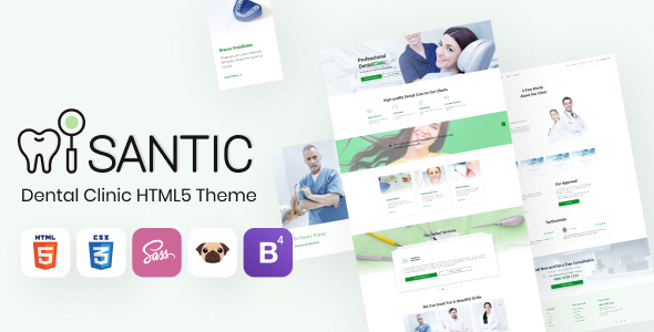 [Free Download] Santic – Dental Clinic HTML5 Theme, Doctor Directory (Nulled) [Latest Version]