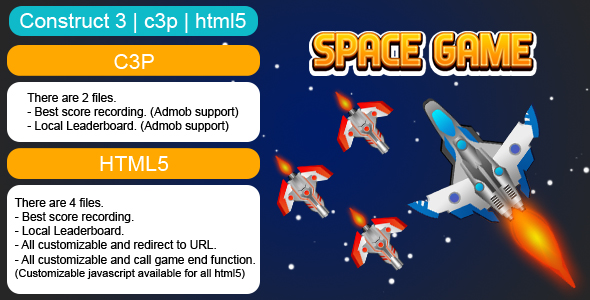 [Free Download] Space Endless Game (Construct 3 | C3P | HTML5) Customizable and All Platforms Supported (Nulled) [Latest Version]