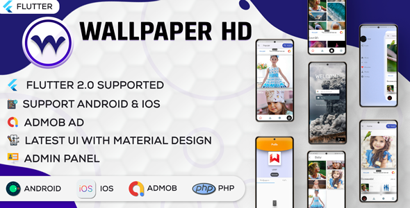 [Free Download] Flutter HD Wallpaper – Online Wallpaper App With PHP Admin Panel | New Concept | Flutter (Nulled) [Latest Version]