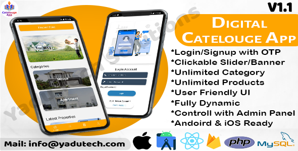[Free Download] Multipurpose Digital Catalogue Android & iOS App with Website and Admin Panel V1.1 (Nulled) [Latest Version]