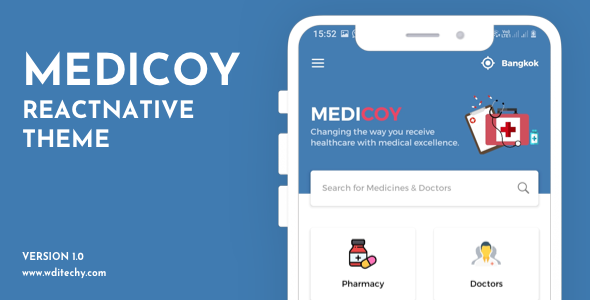 [Free Download] Medicoy React Native Medical Theme/Template (Nulled) [Latest Version]