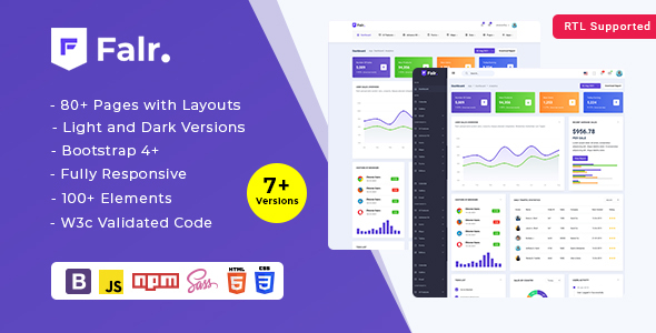 [Free Download] Falr – Bootstrap Admin Dashboard Template HTML (Nulled) [Latest Version]