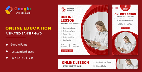 [Free Download] Education Online Animated Banner GWD (Nulled) [Latest Version]