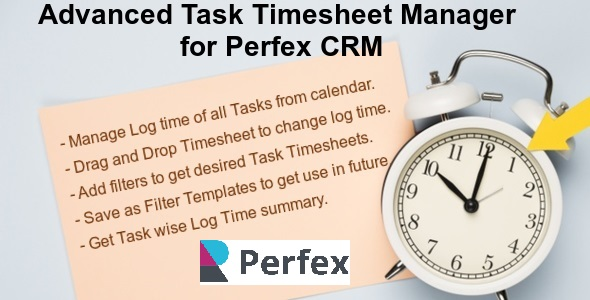 [Free Download] Advanced Task Timesheet Manager Module for Perfex CRM (Nulled) [Latest Version]